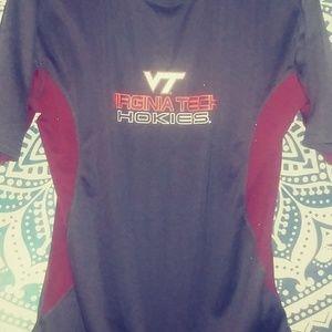 Ladies NCAA Large Virginia Tech Gray/Burgundy Tee